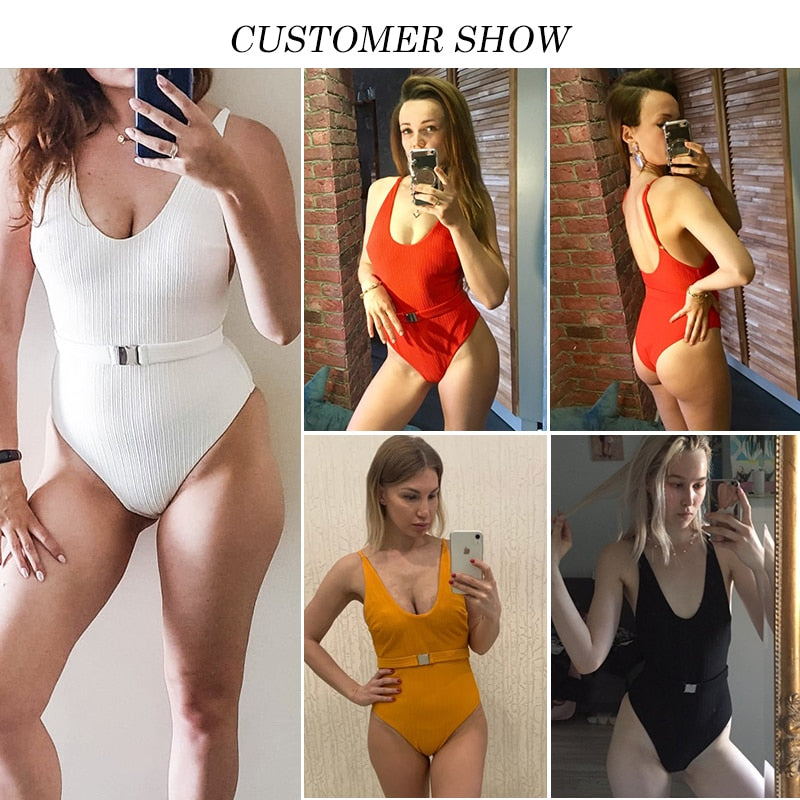 Buckled One Piece Swimsuit - Multiple colours & styles