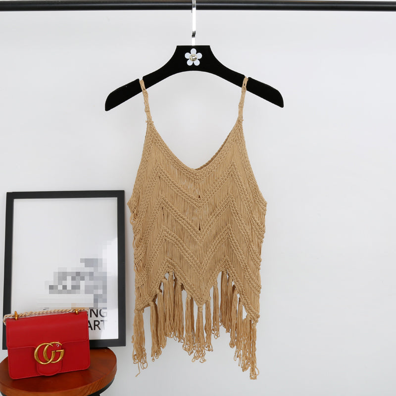 Knitted Tassel Top - 4 colours