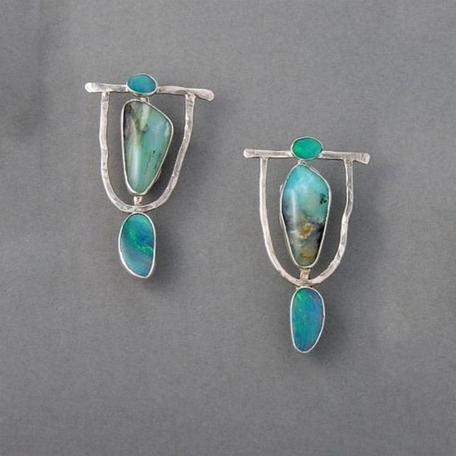 Boho Tribal Drop Earrings