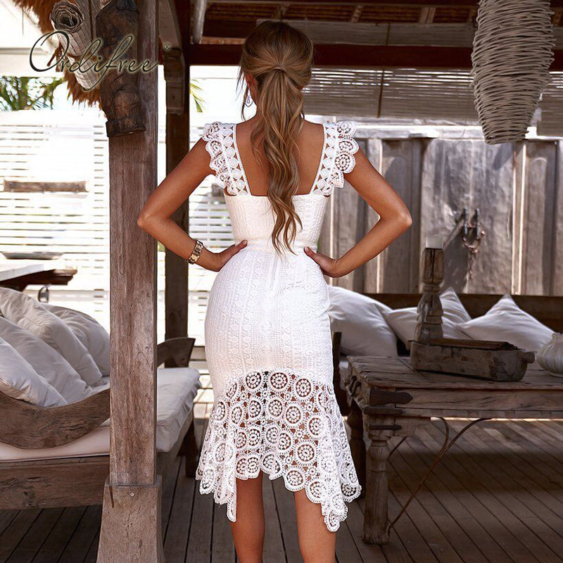 white lace dress , boho white lace dress , white boho dress