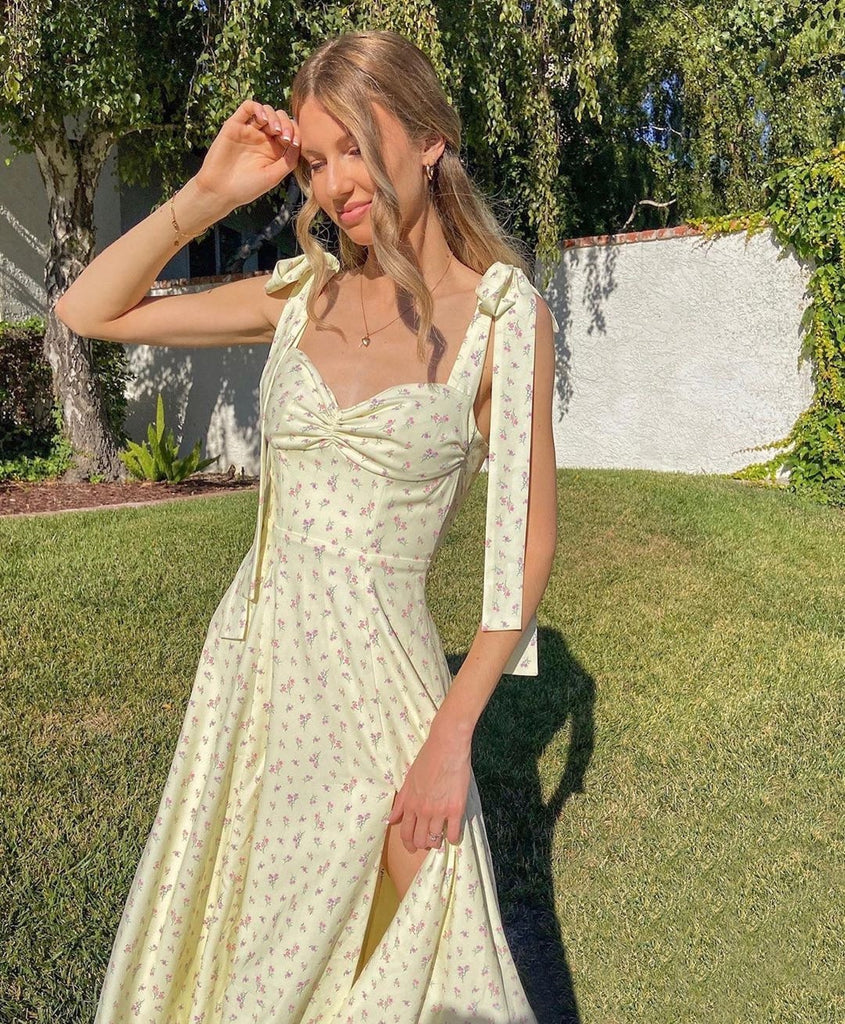 shoulder tie up dress, boho dress,  floral boho dress, boho dress