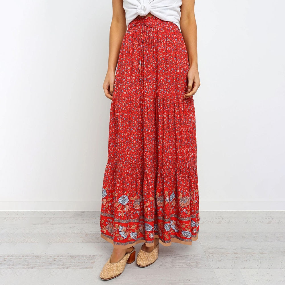 High Waisted Maxi Skirt - 3 Prints