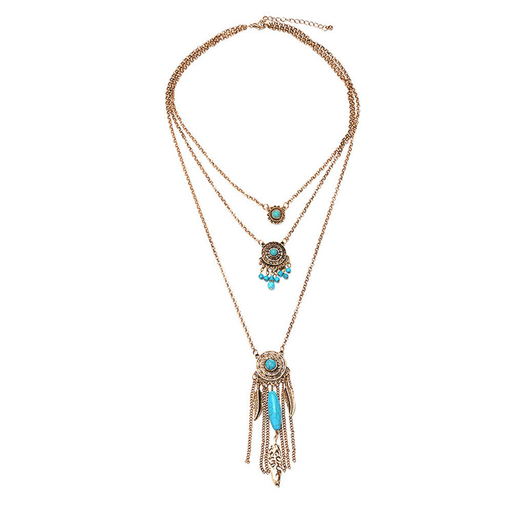 Turquoise Multilayer Choker