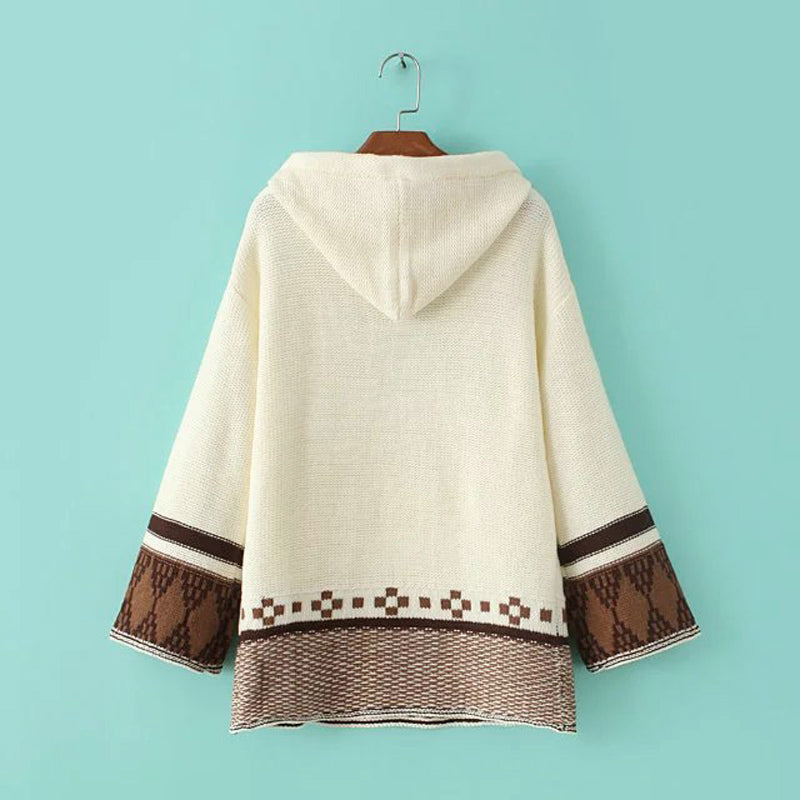 woman's hooded sweater