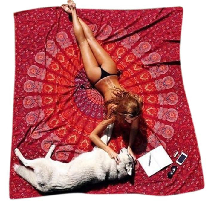 Indie Style Beach Rug / Yoga Mat /  Cover Up