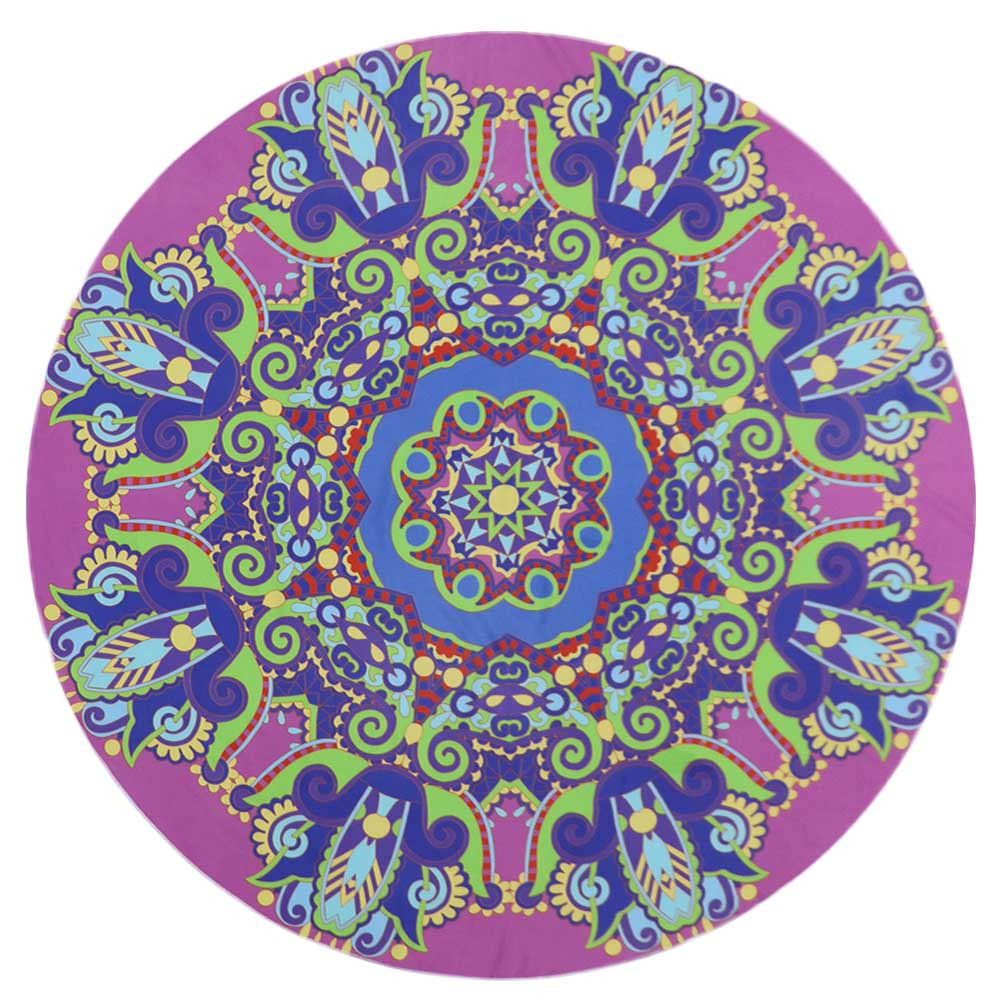Round Beach Towel /Yoga Blanket
