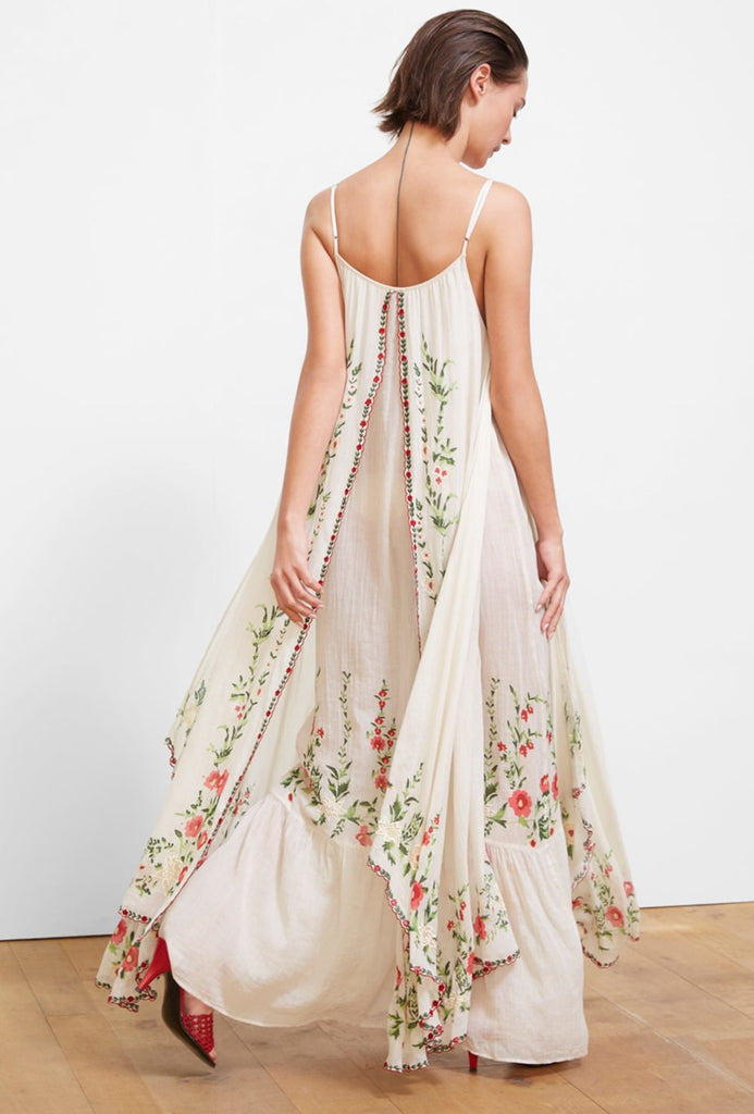 White embroidered maxi dress
