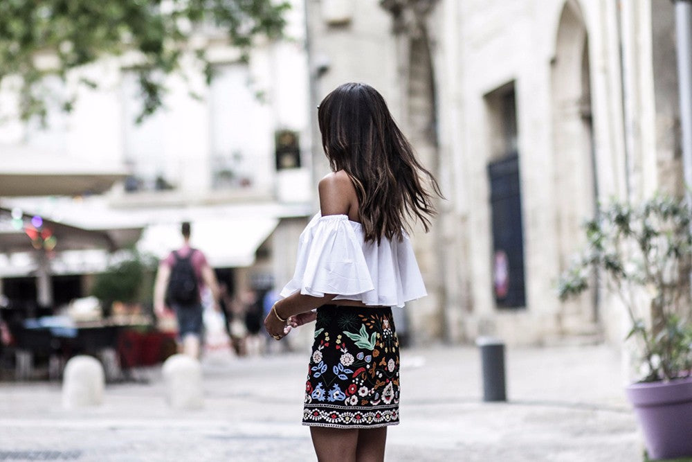 embroidered skirt Embroidered Tribal Mini Skirt