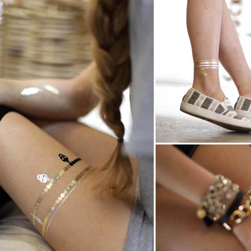 Metallic Tattoos - Gold