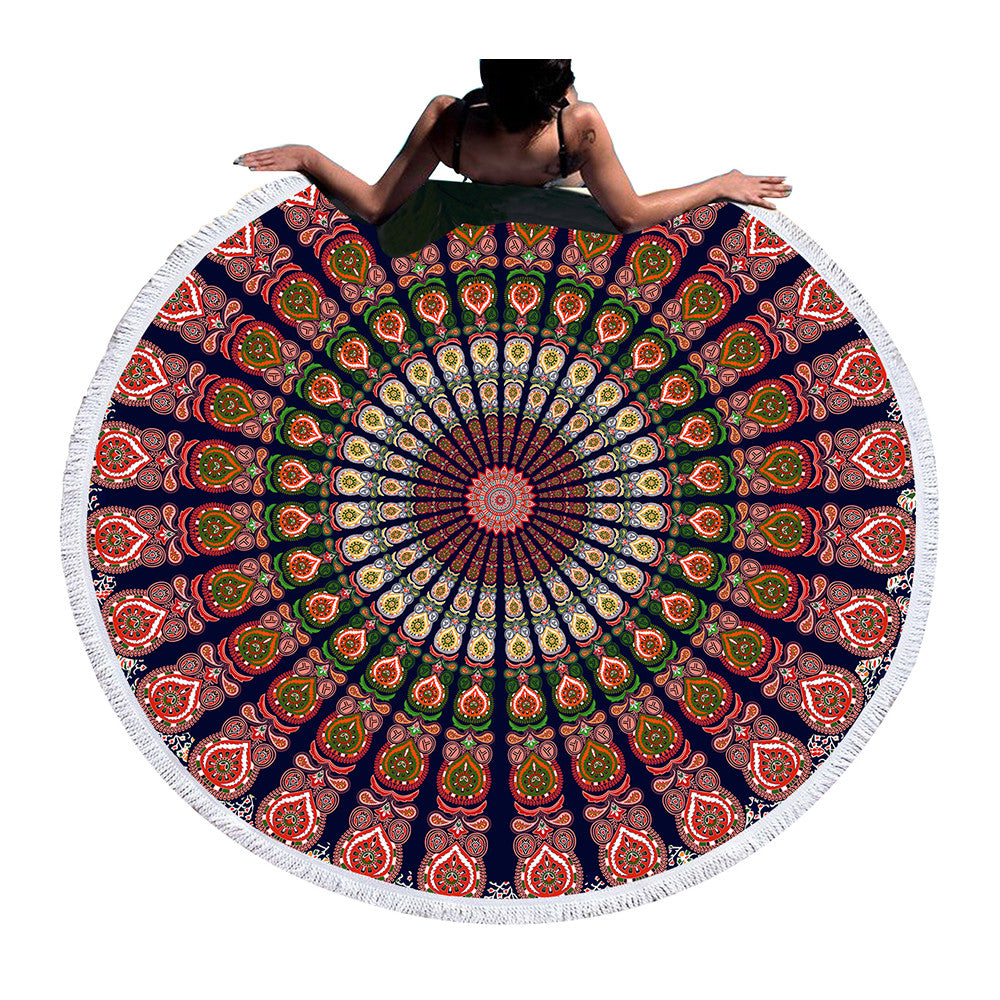 Mandala Round Beach Towel /  Blanket