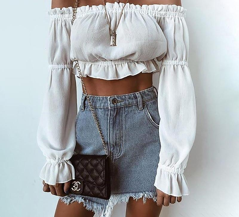 boho white top / crop top