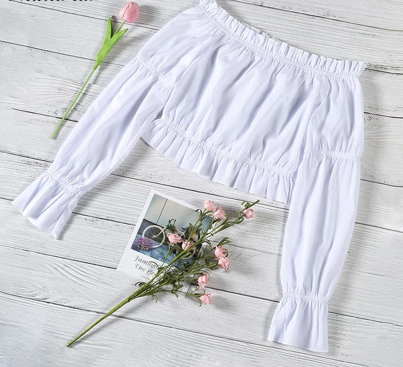 boho white top / crop top love that boho