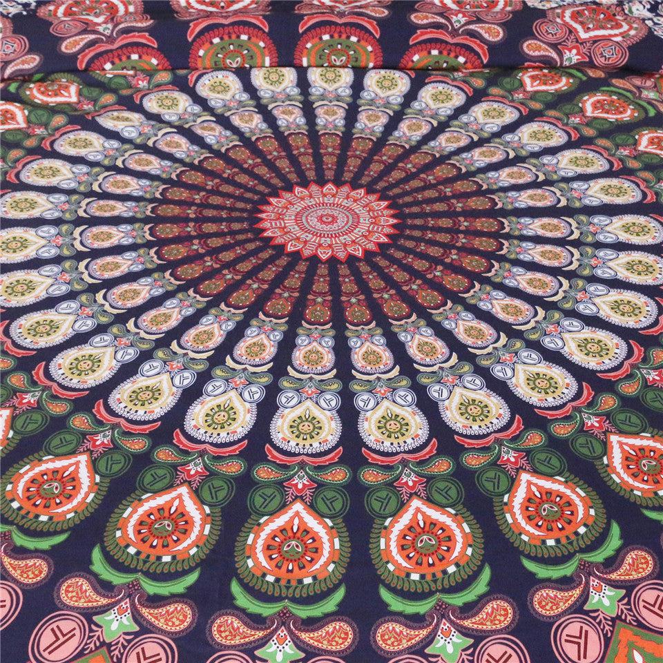 Mandala Floral Tapestry -  Home decor or beach rug