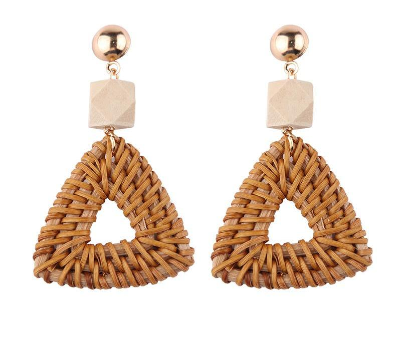 Rattan Weave Earrings