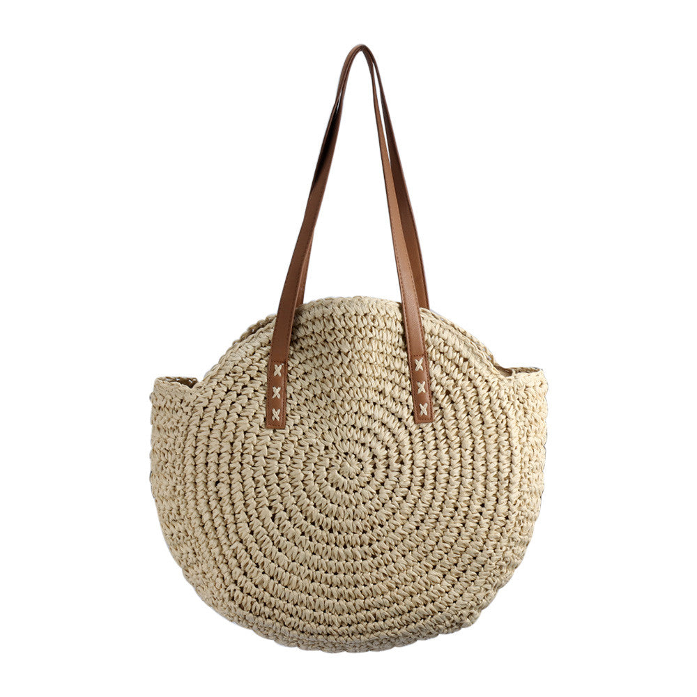 Rattan straw Beach Bag