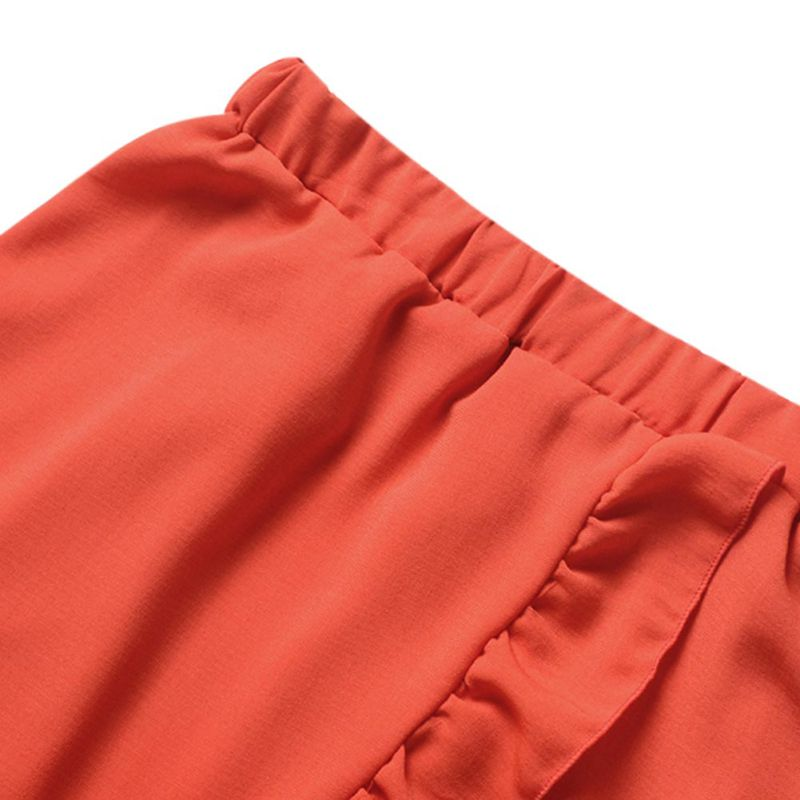 Back tie up, asymmetrical ruffled Maxi Skirt