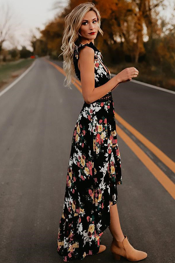 Backless Floral Maxi Dress love that boho