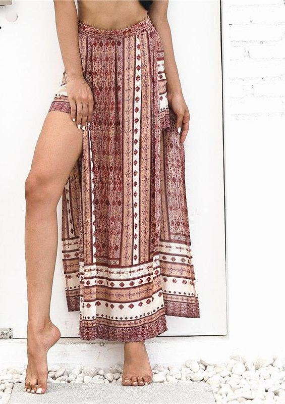 HIGH WAIST BOHEMIAN SUMMER MAXI SKIRT / PANTS
