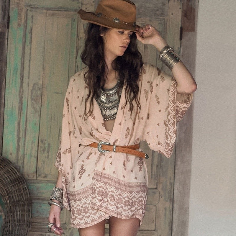 Boho Cardigan Cover Up / Wrap Dress