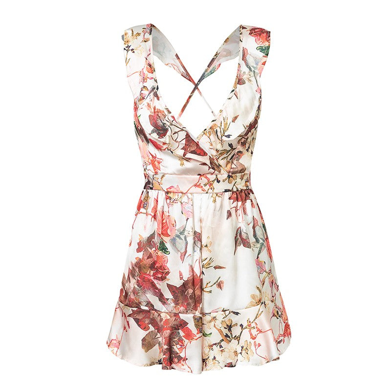 Semi backless Playsuit