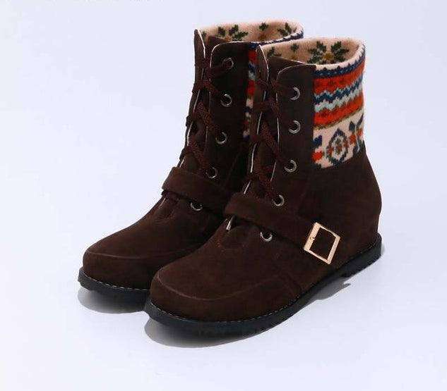 Lace up Boots - Ethnic Brown