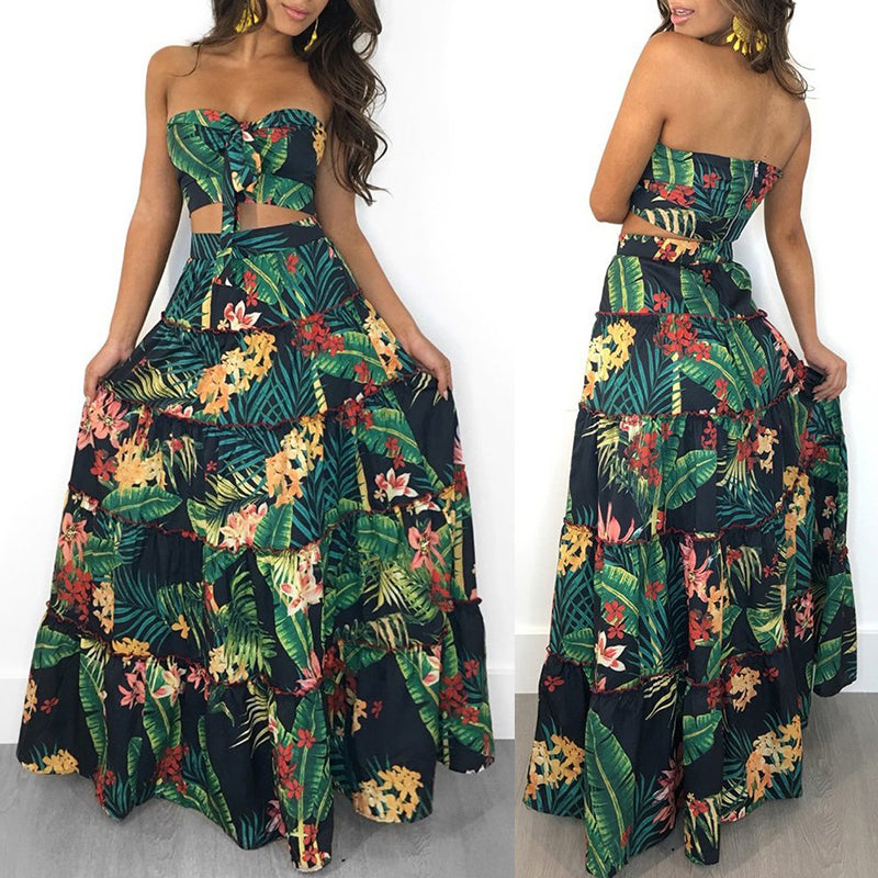 Two Piece Bandeau Maxi
