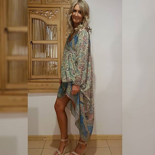 Paisley Boho Maxi or Mini Dress