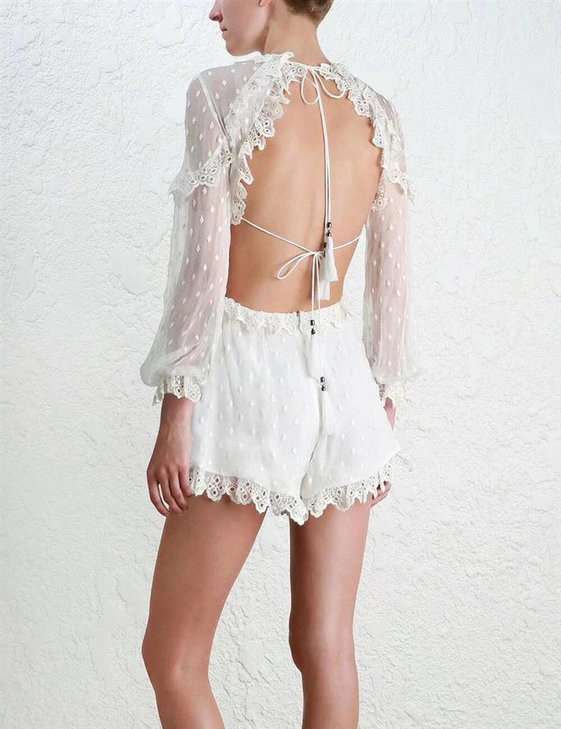 Backless Chiffon Playsuit