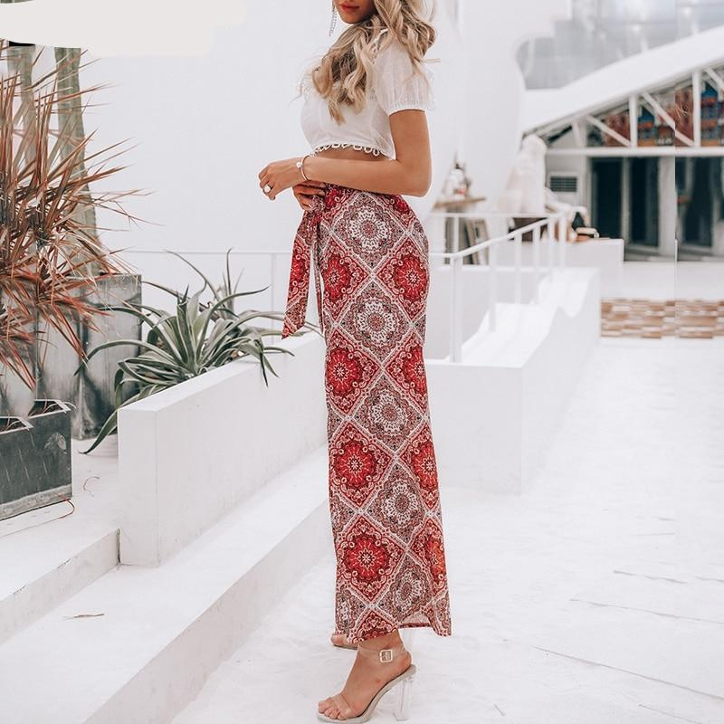 Wide leg spit capri pants