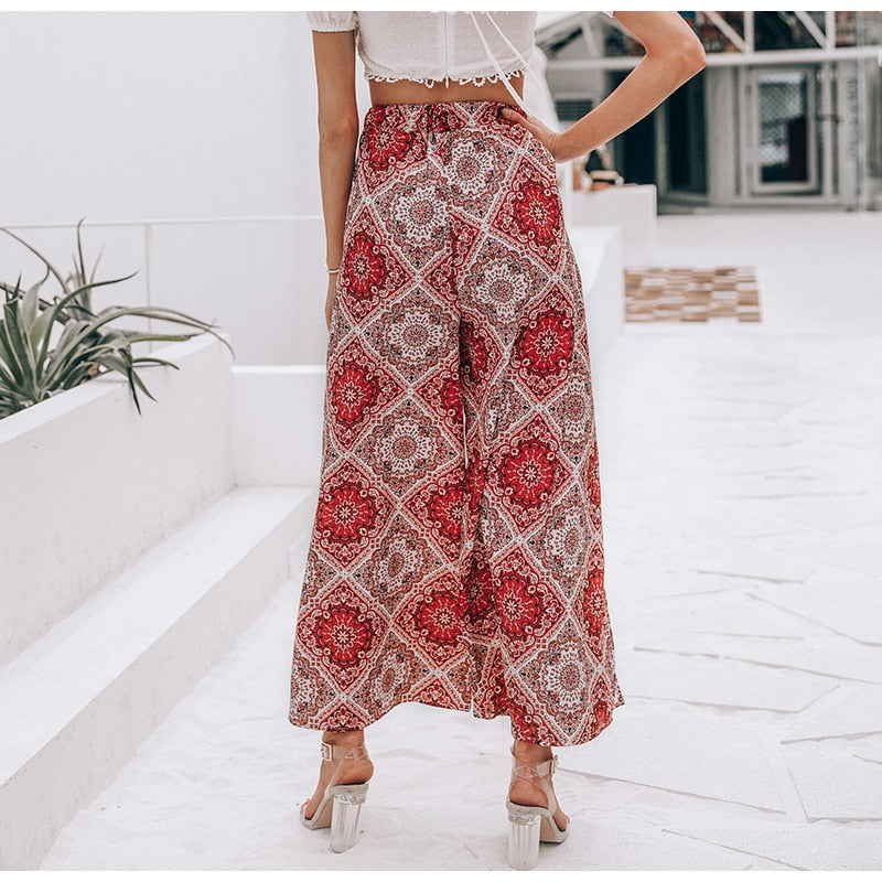 boho pants with split