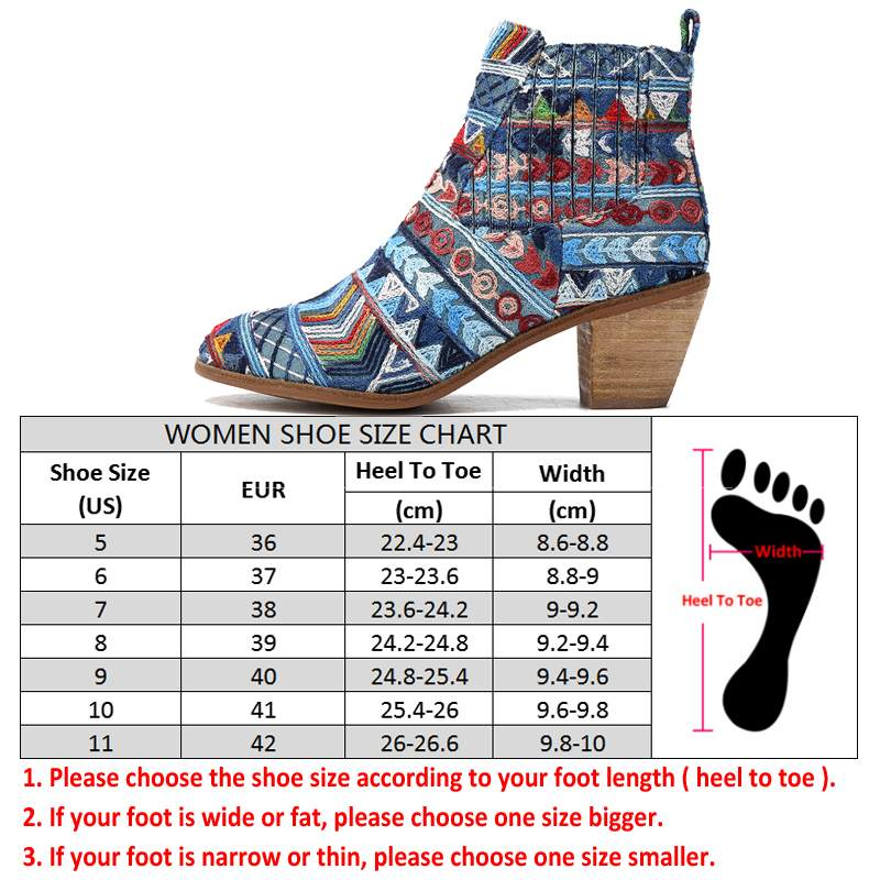 Retro Ethnic Weave Cloth Boots