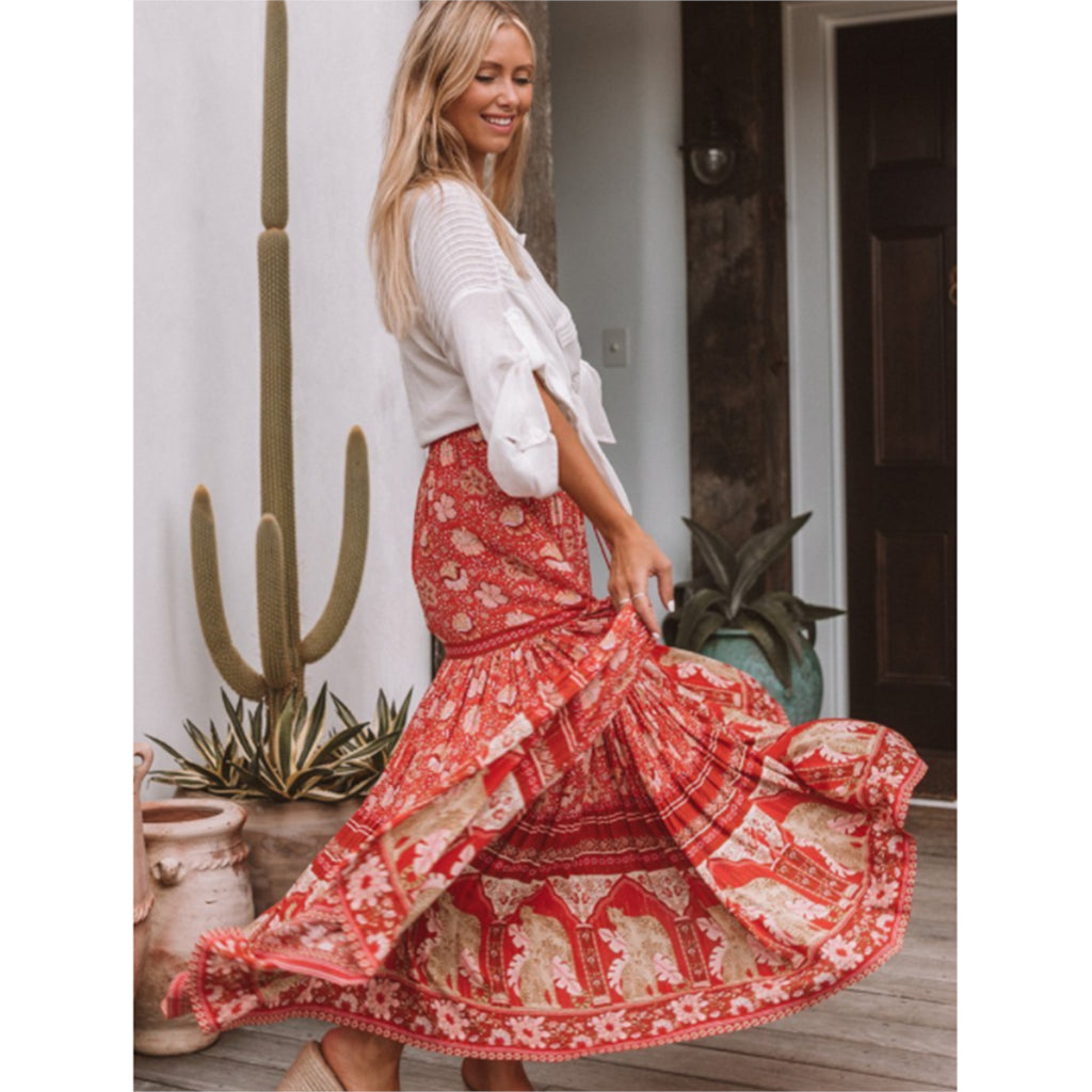 boho maxi skirt, maxi skirt with split, boho maxi skirts ,  long maxi skirt, boho clothing
