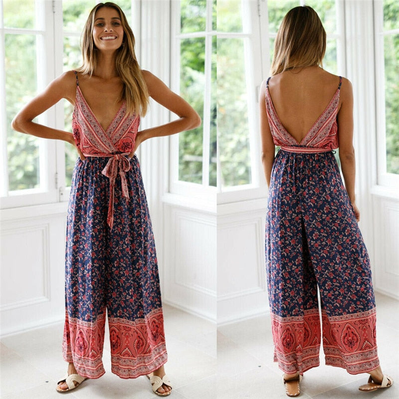 Backless Summer Jumpsuit