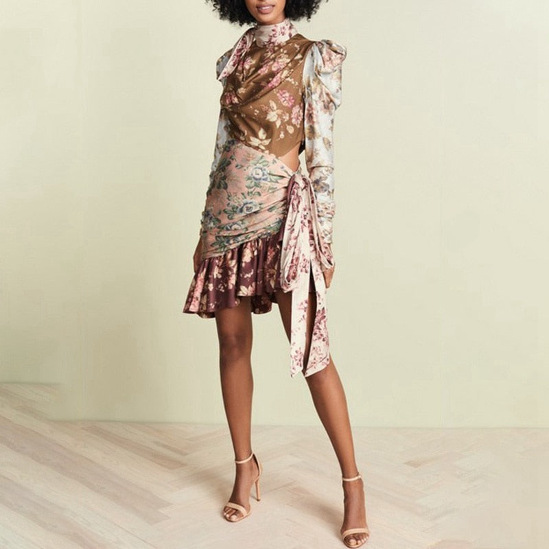 Silk Asymmetrical Lux Boho Dress