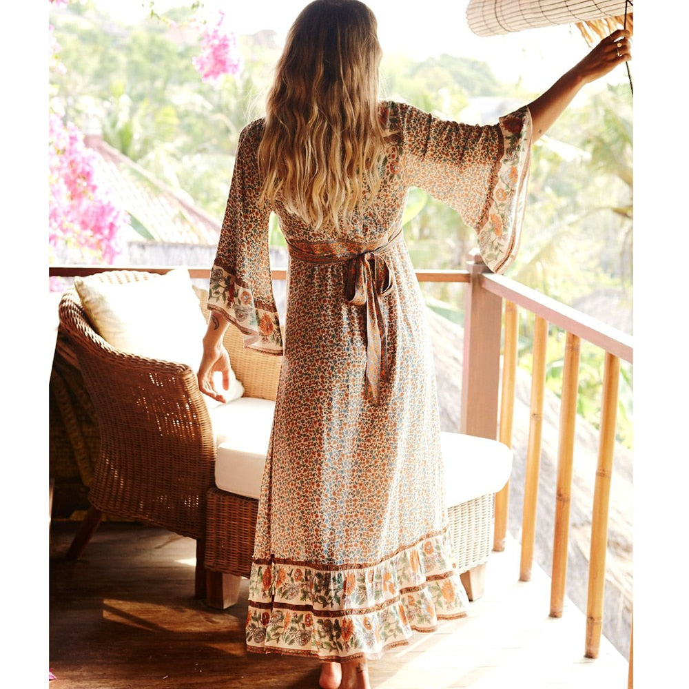 V-Neck Hippie Dress