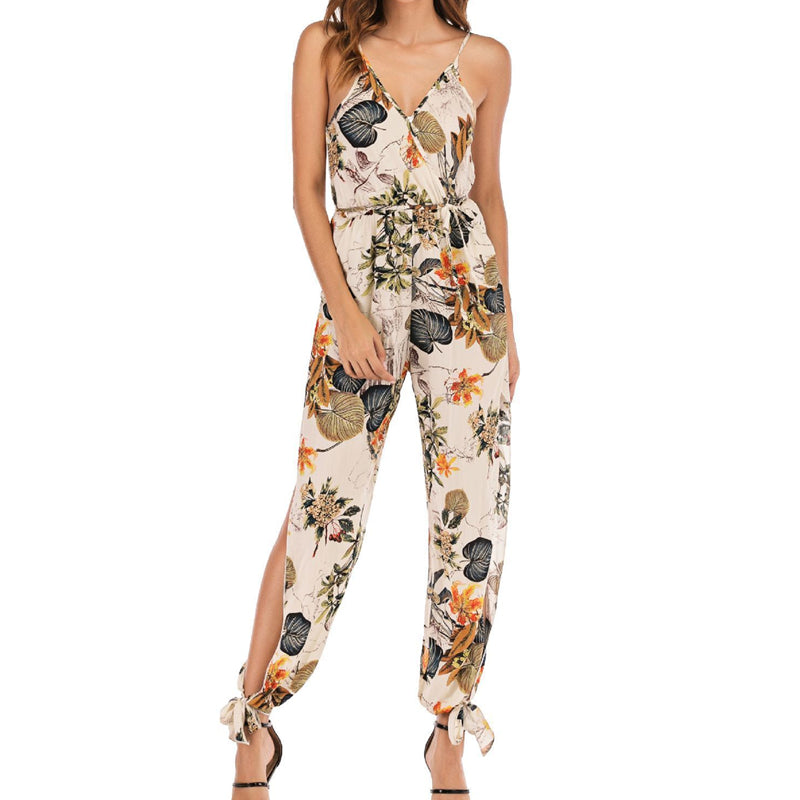 Casual V-Neck Jumpsuit