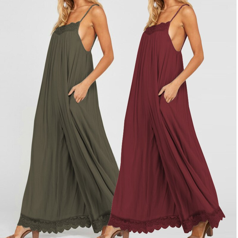 Loose Wide Leg Romper / Jumpsuit