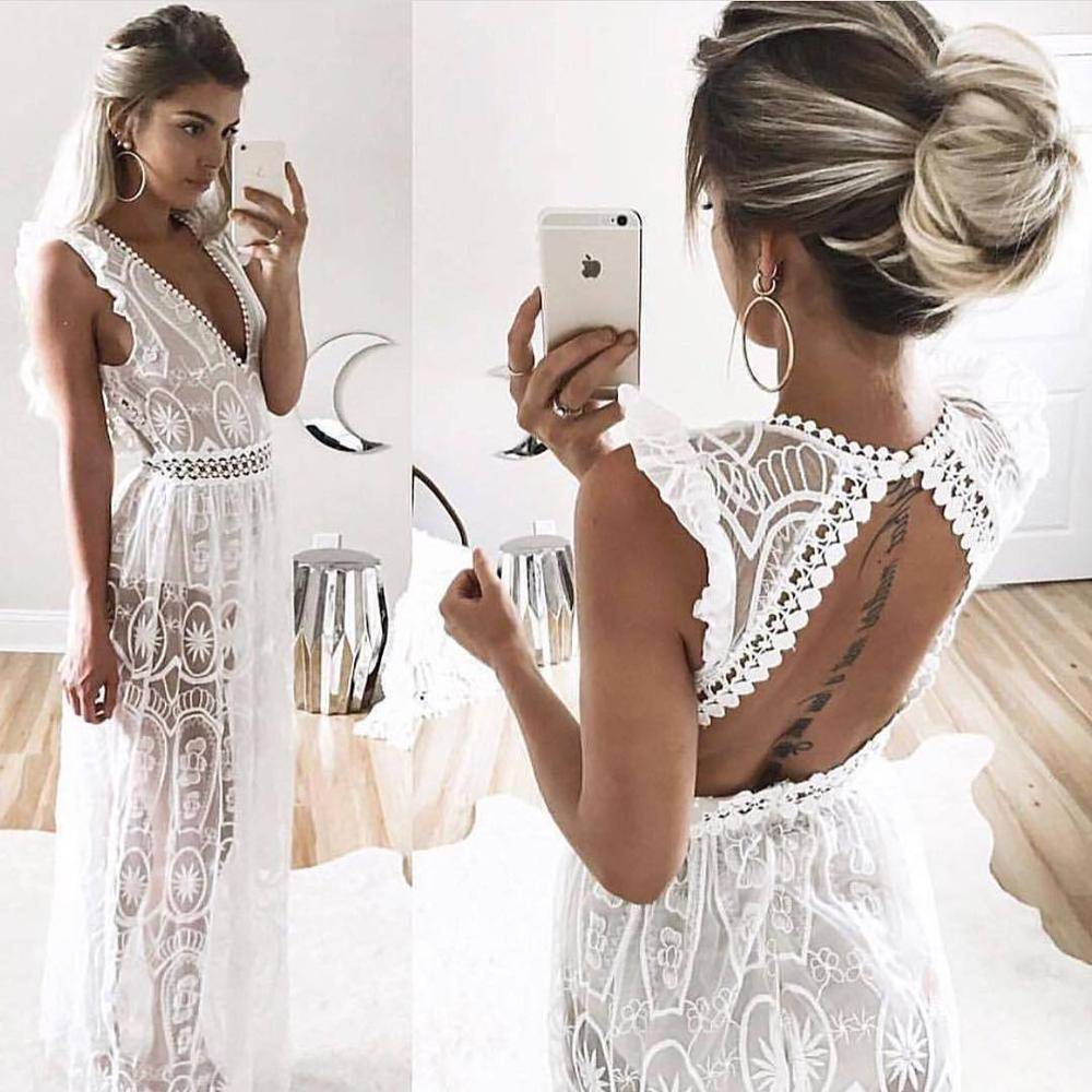 white lace boho dress , white lace dress ,  boho dress ,  backless white dress