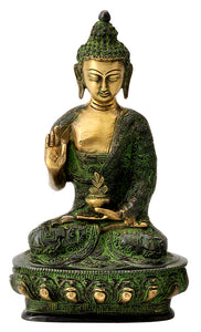 Antiquated Brass Buddha Figurine