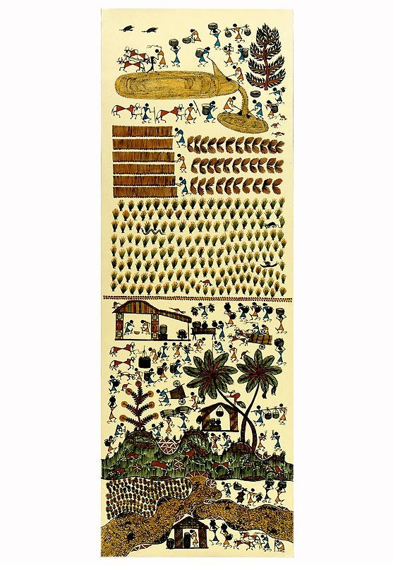 Harvest Charm - Warli Art Painting