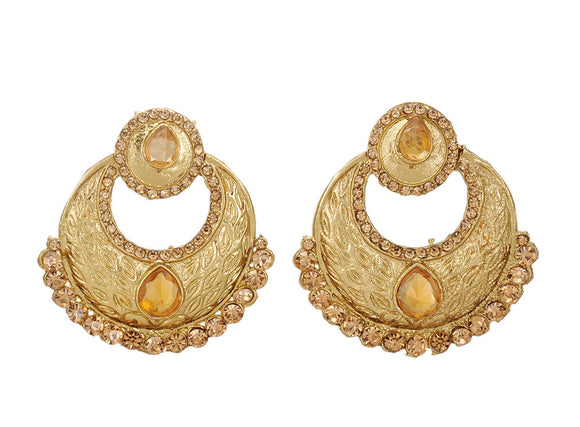 Stylish and Trendy Golden Fancy Party Wear Earrings