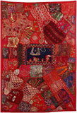 Patchwork Wall Hanging 'Red Villa'