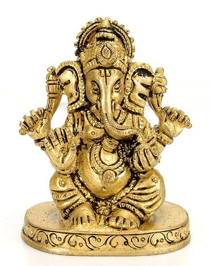 Lord  Ganesha - Brass Statuette