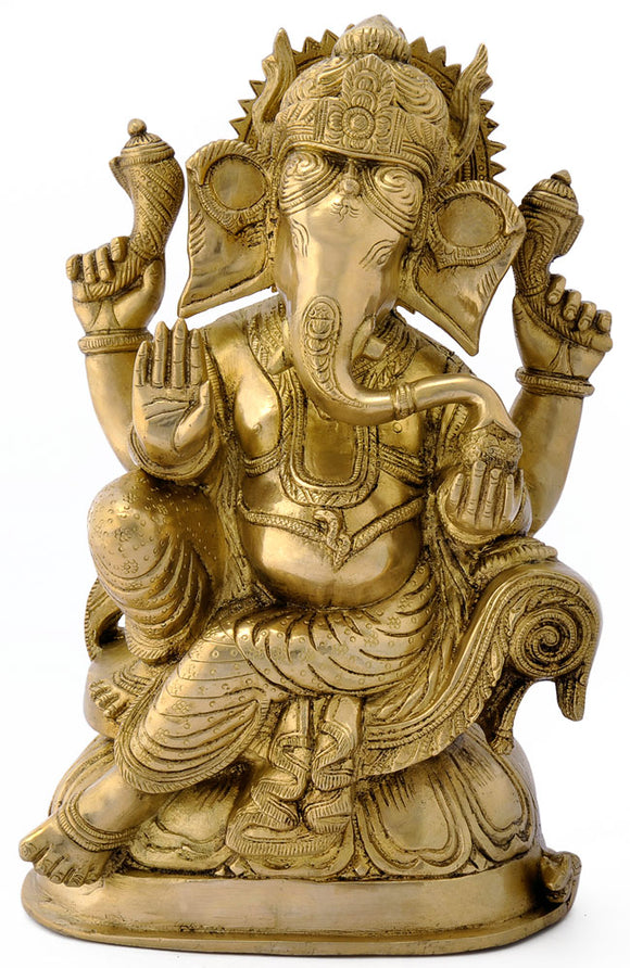 God Mahaganpati Brass Sculpture 4805