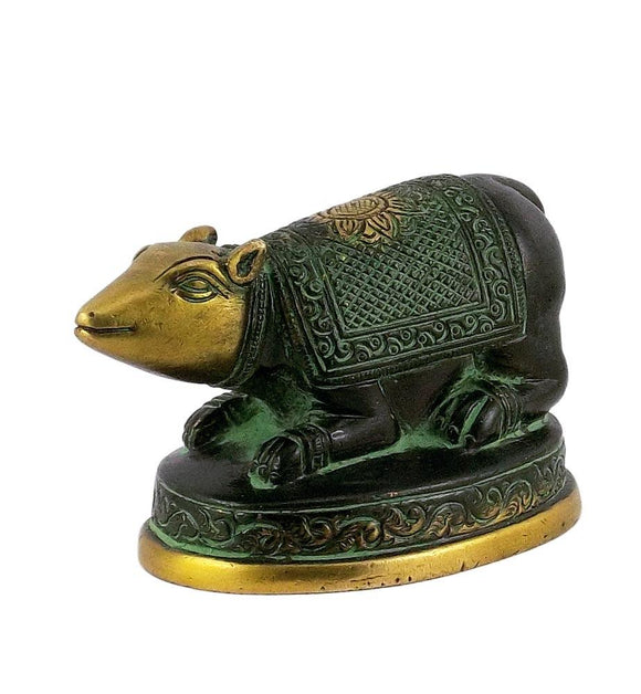 Mouse Carrier of Ganesha Brass Statue