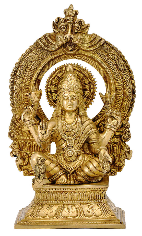 Devi Lakshmi Seated on Throne