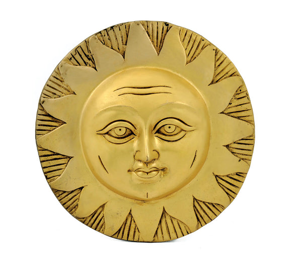 Lord Surya Brass Wall Plaque