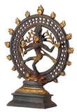 Antiquated Lord Natrajan Brass Figure