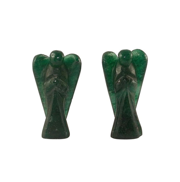 Healing Angel Aventurine Pocket Statue - Set of 2