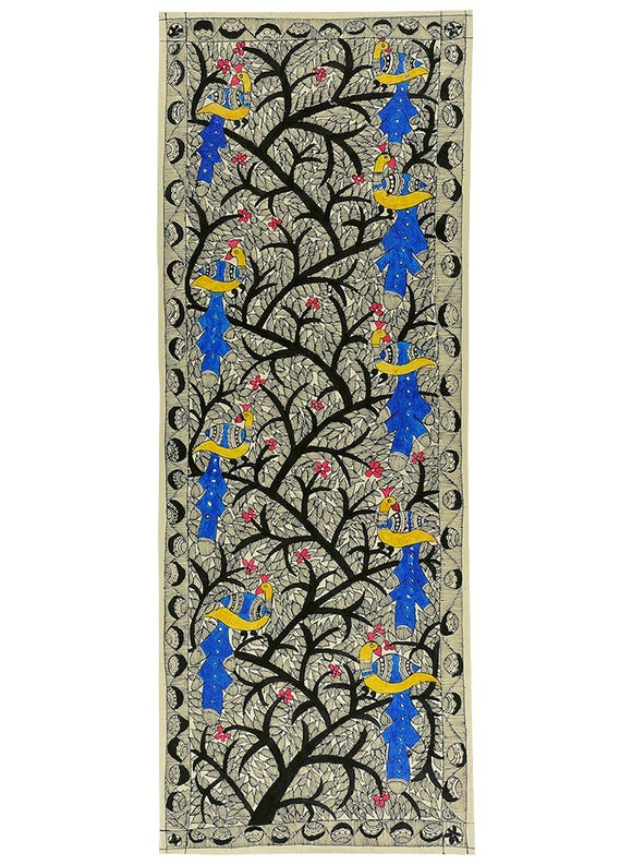 Tree of Life Madhubani Painting